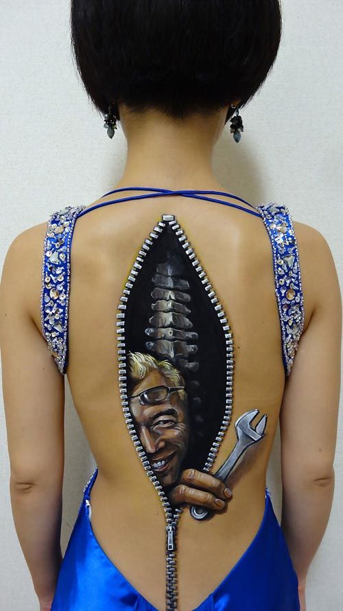 trabajo body art japonesa chooo san