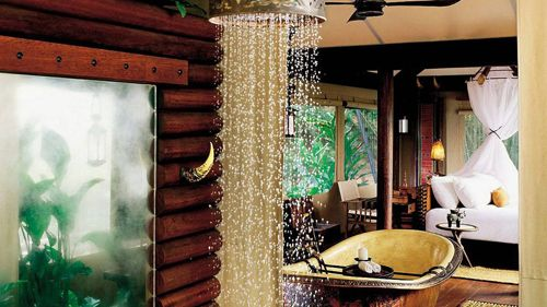 baño hotel lujo four seasons tented camp golden triangle