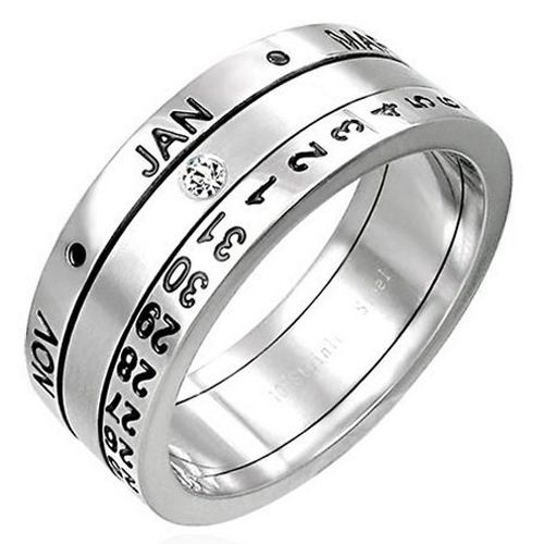 calendario anillo revolving calendar ring