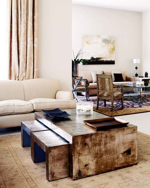 living-room-decorating-ideas-home-decor-cocktail-tables-coffee-stacked-wite-tan-beige-neutral-modern-contemporary-interior-decoration-art-leopard-print