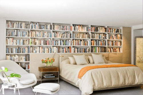 Decoraci n con libros para dormitorios moove magazine for Decoracion con libros