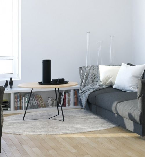 Scandinavian-Studio-Apartment-living-in-monochrome-with-slate-couch-and-natural-wood-flooring-600x648