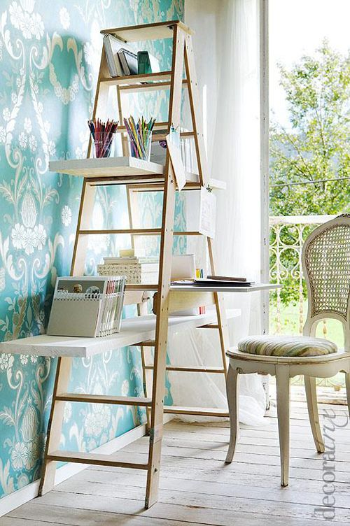 Ideas creativas para decorar con escaleras antiguas   moove magazine