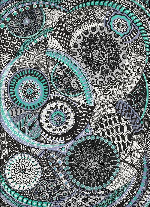 arte zentangle dibujo meditacion