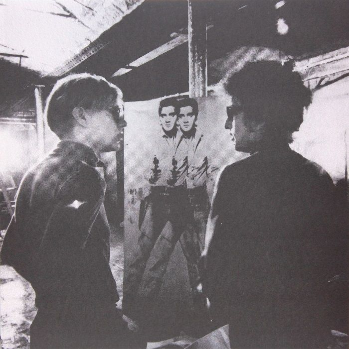 andy warhol bob dylan delante doble elvis the factory musica