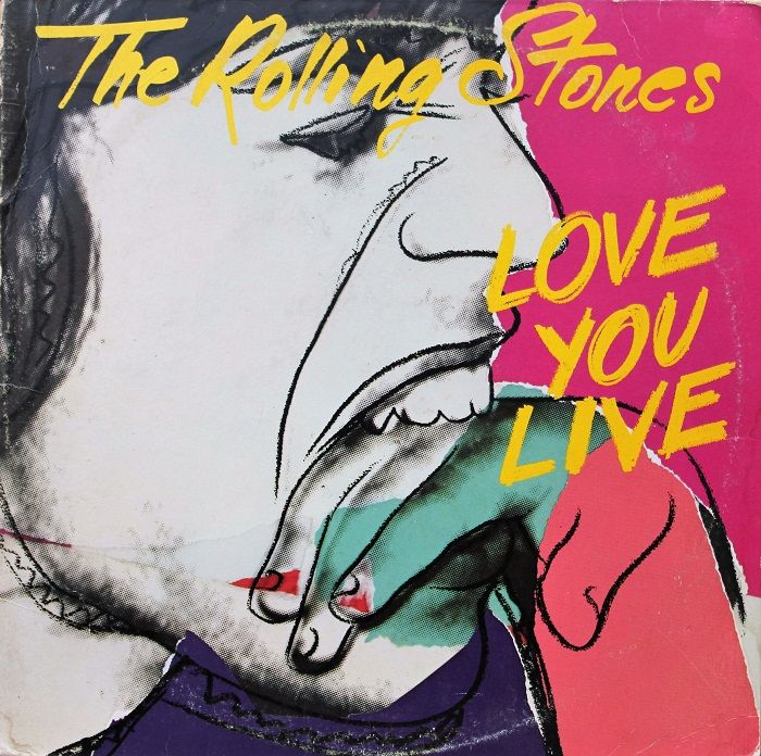 portada disco vinilo love you live the rolling stones andy warhol pop art