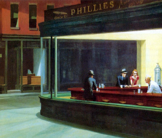 realismo de Edward Hopper bar