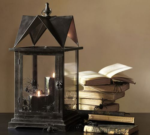 black house lantern lampara velas pottery barn