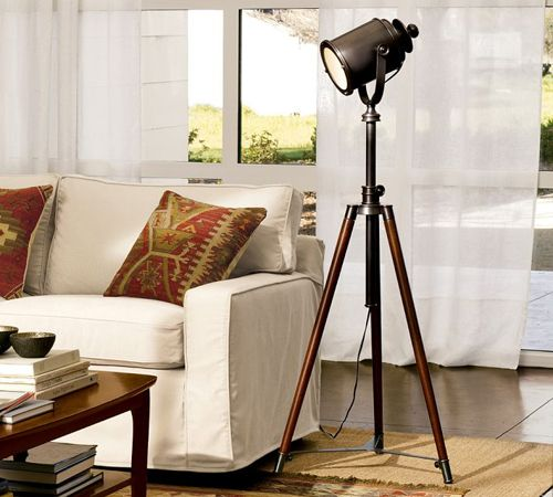 photographer's tripod floor lamp pottery barn lampara tripode fotografia