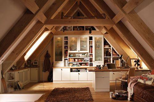 fotografia decoracion atico usado como cuarto estudio o despacho