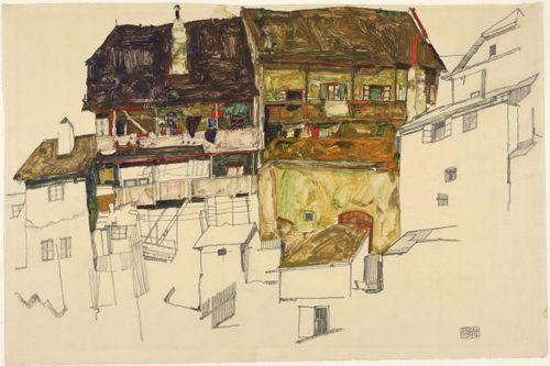 casas antiguas de krumau artista expresionista egon schiele