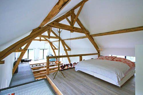 dormitorio planta alta granero reformado borgoña francia