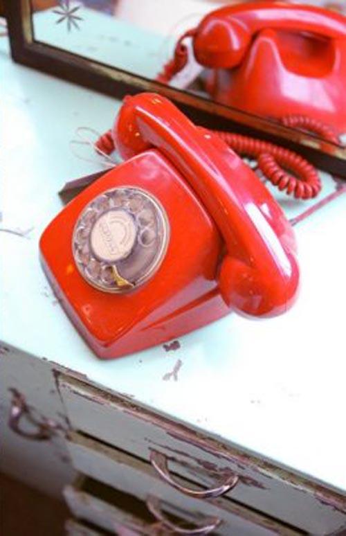 telefono rojo vintage i love retro