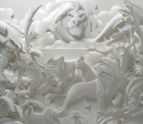 lion king escultura papel jeff nishinaka