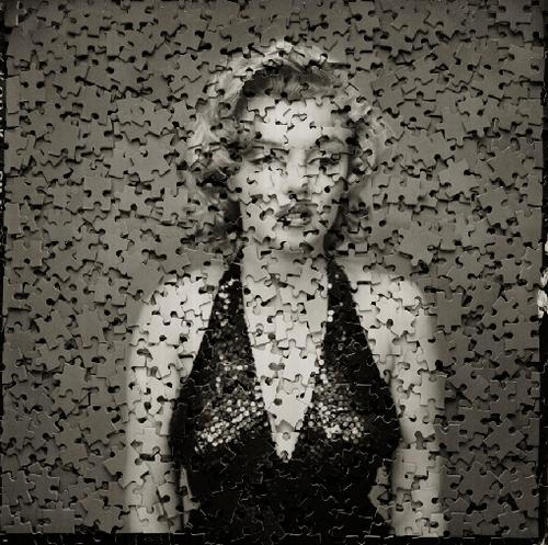 marilyn monroe after avedon puzle artista brasileño vik muniz