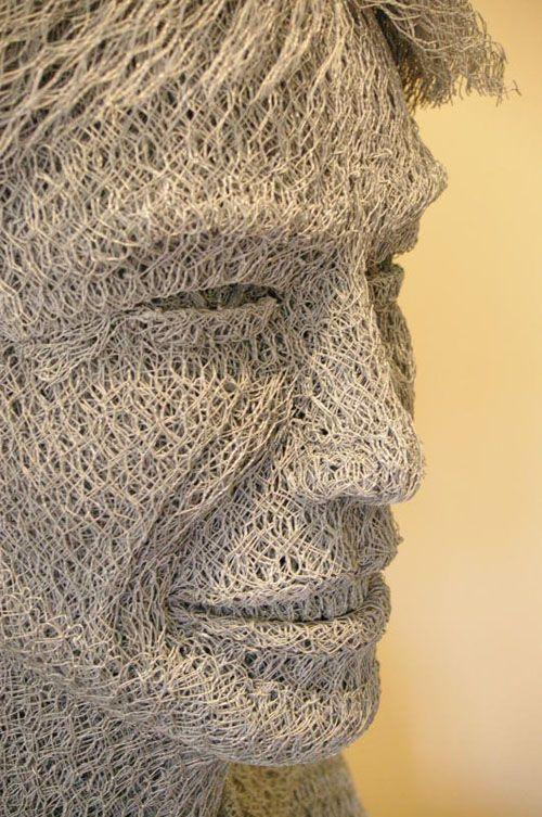 mick jagger escultura alambre ivan lovatt