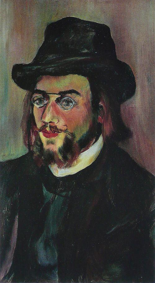 retrato erik satie pitado artista suzanne valadon 1892-1893