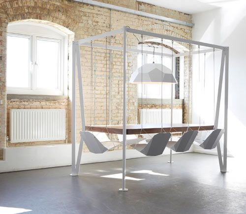 swing table mesa sillas colgantes christopher duffy para duffy london