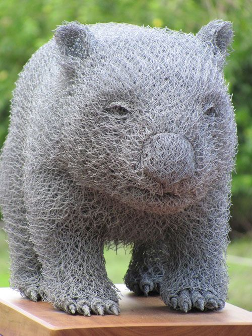 wombat escultura alambre ivan lovatt