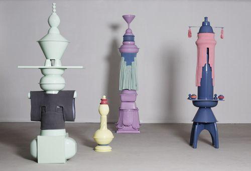yeahman figuras colores forma totem noman