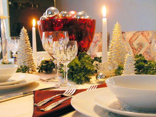 mesa navidad luz velas