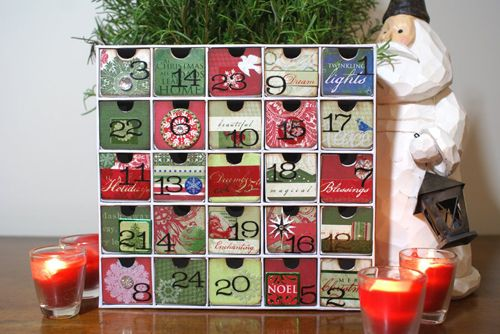 calendario adviento armario art scrap and more