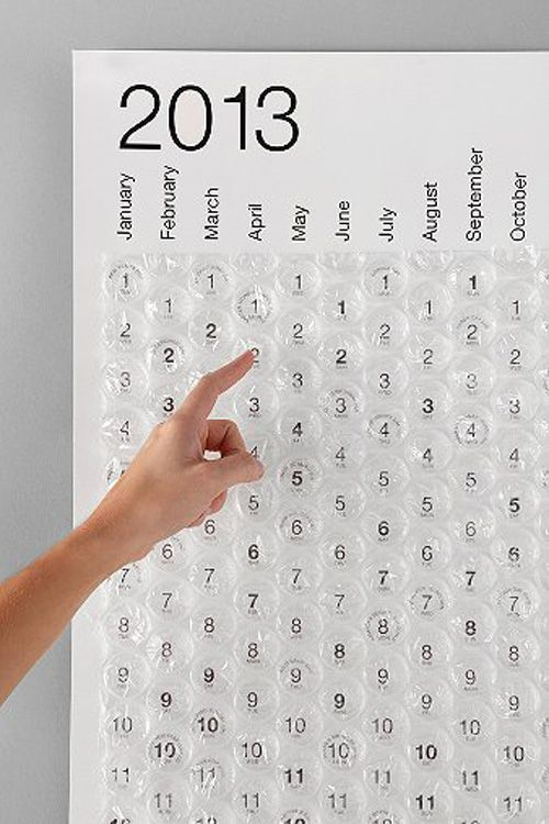 calendario burbujas bubble calendar 2013