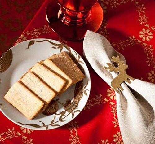 servilletero reno dorado navidad