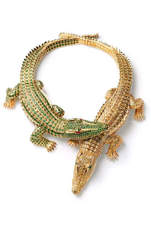 broche cocodrilos oro firma joyas cartier