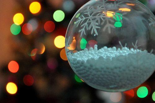 bola navidad cristal nieve