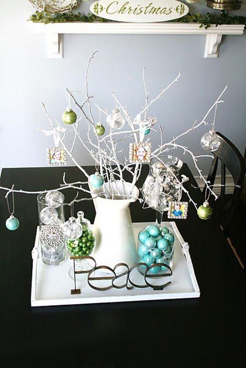 decoracion sencilla navidad blanco