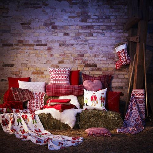 decoracion navidad blanco rojo