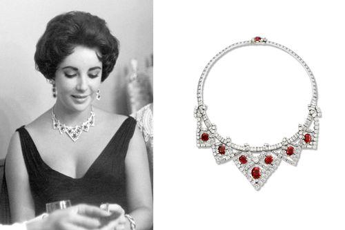 collar rubies diamantes marca joyas cartier actriz elizabeth taylor