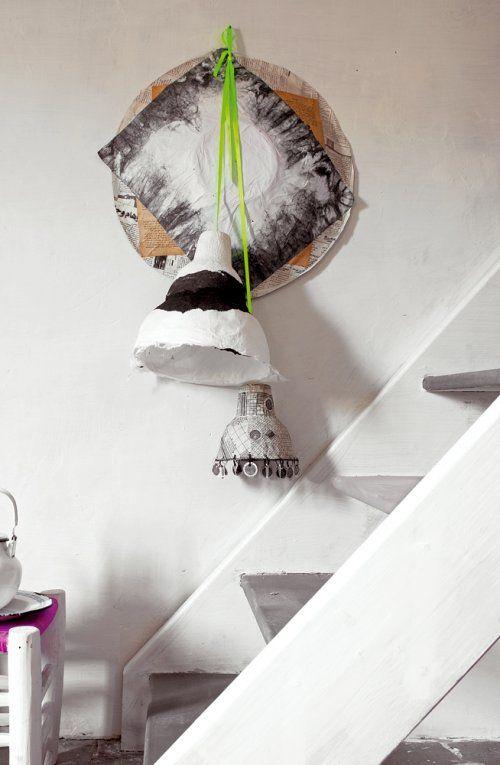 escalera estilo marroqui blanca