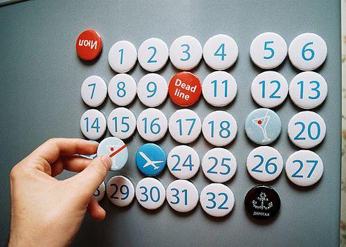 calendario magnetico eternal magnetic calendar dorogaya