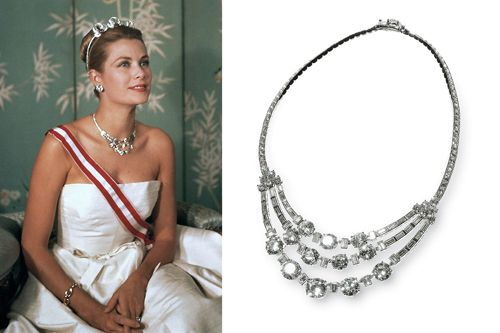 collar firma joyas cartier llevado princesa gracia familia monaco
