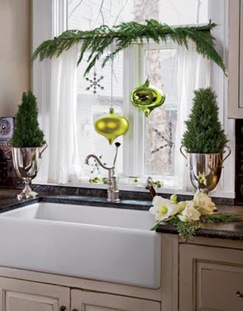 decoracion navidad verde