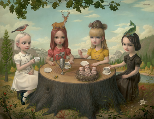 allegory of the four elements mark ryden
