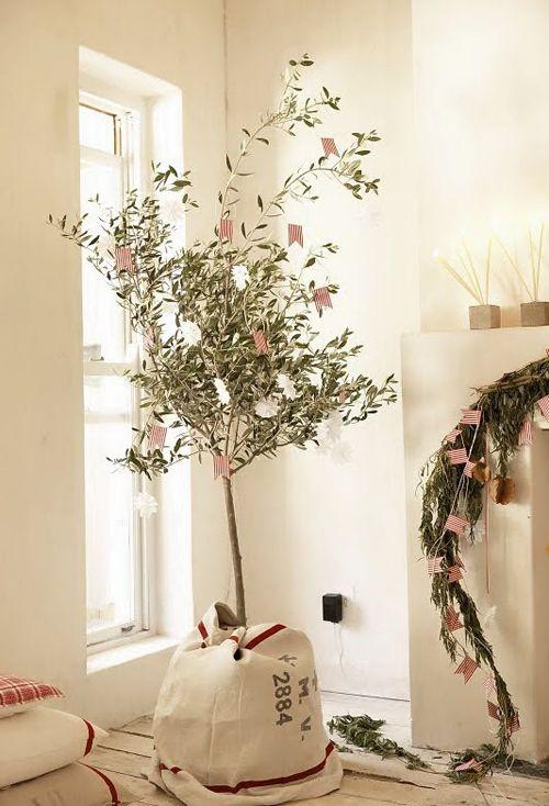 planta navidad vintage