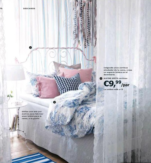 cama cortinas ikea