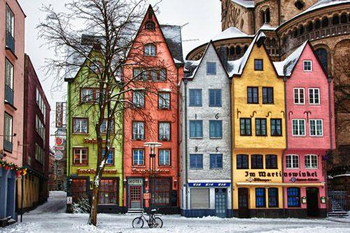 edificios colores colonia alemania