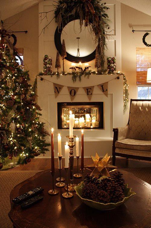 salon navidad velas