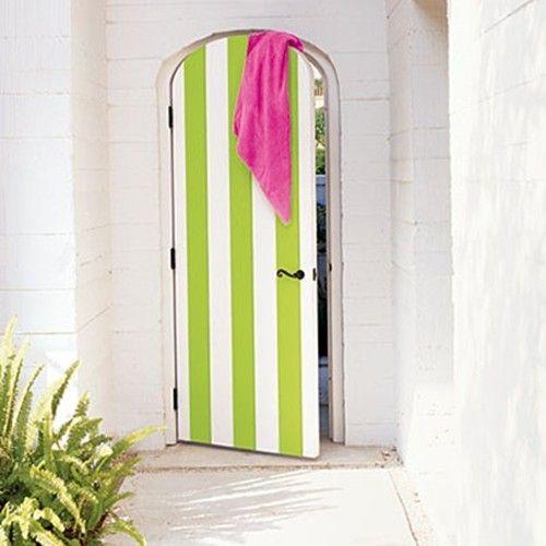 puerta rayas verdes blancas peppermintbliss.com