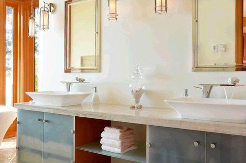 lavabos baño habitacion principal casa madera