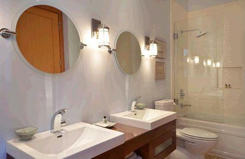 baño invitados casas madera