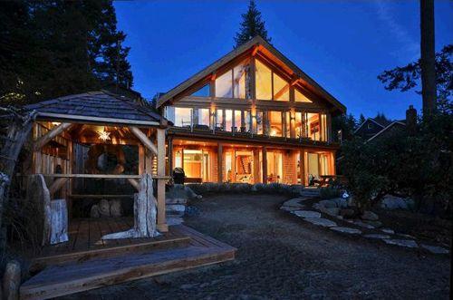 exterior parte trasera casa madera