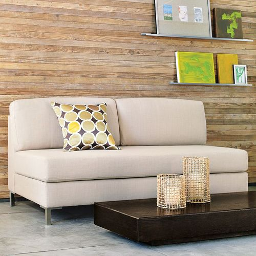 armless upholstered sofa west elm