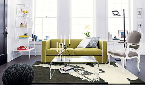 club moss sofa with piping cb2