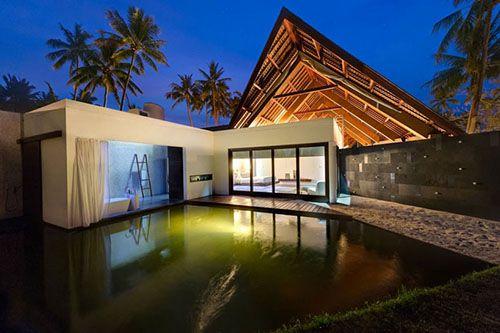 Lujosa casa tropical de estilo Bauhaus