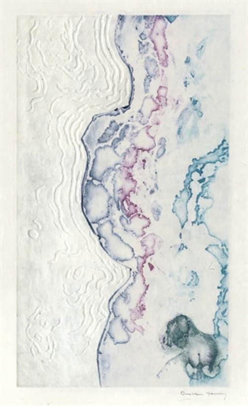 grabado dorothea tanning libro la marea andre pieyre de mandiargues